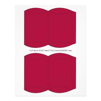 "Red  Pillow Puff Box Template 8.5"" X 11"" Flyer"