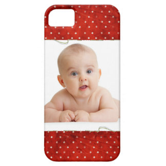 Red pin dots with photo iPhone SE/5/5s case