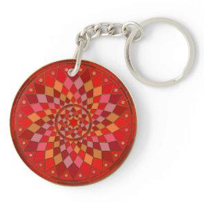 Red Pinata Mandala Keychain