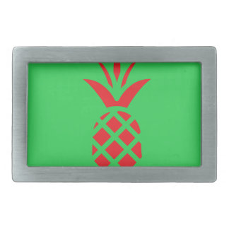 Red Pine apple in  Green Rectangular Belt Buckle