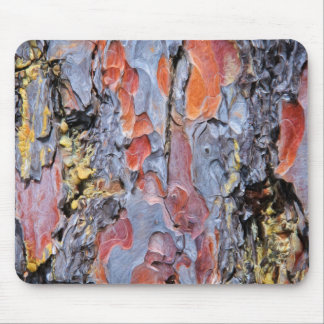 Red Pine Bark Painting Mouse Pad