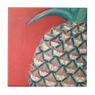 Red Pineapple Ceramic Tile