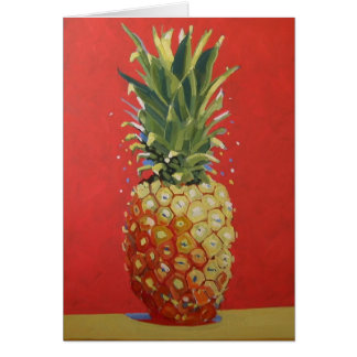 Red Pineapple Greeting Card / Invitation
