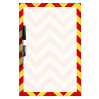 Red, Pineapple Large Chevron ZigZag Pattern Dry Erase Board