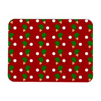 Red ping pong pattern flexible magnets