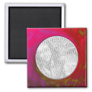 red pink 2 inch square magnet