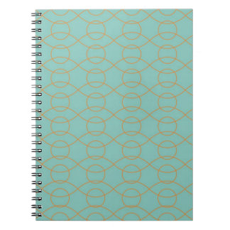 Red Pink Abstract Circle Swirl Pattern Journal