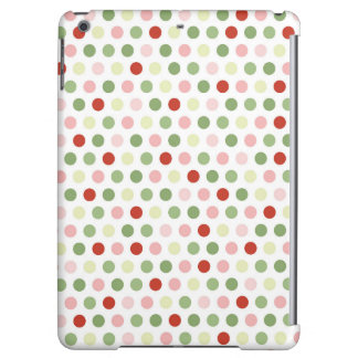 Red Pink and Green Polka Dots Case For iPad Air