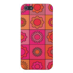 Red Pink and Orange Hippie Flower Pattern Case For iPhone 5
