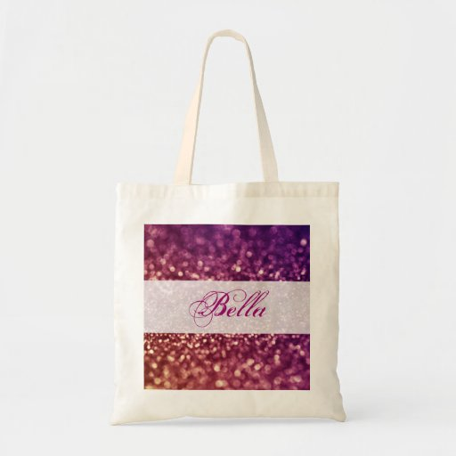 Red Pink and Purple Sparkle Diva Glitter Design Bags