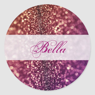Red Pink and Purple Sparkle Diva Glitter Design Stickers