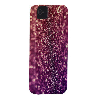 Red Pink and Purple Sparkle Glitter Blackberry Cas Case-Mate iPhone 4 Cases