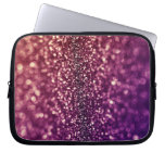 Red Pink and Purple Sparkle Glitter Electronics Sl Laptop Computer Sleeve