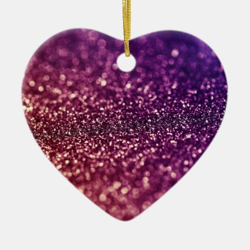 Red Pink and Purple Sparkle Glitter  Ornament