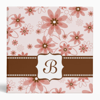 Red, Pink and White Daisies 3 Ring Binder
