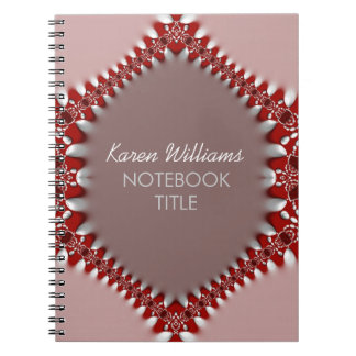 Red Pink Batik Lace Notebook