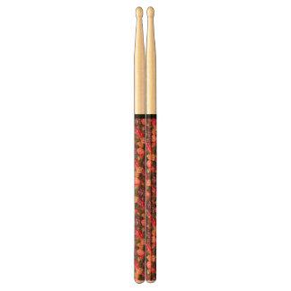 Red Pink Berries Pattern Drumsticks