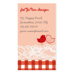 Red & Pink Birds Scrapbook Lace Profile Card Business Card Templates