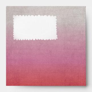 Red Pink blue envelope set