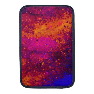 Red Pink Blue Paint Splatter Texture Pattern MacBook Sleeves