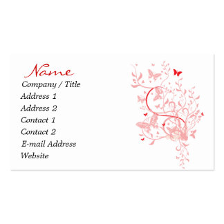 Red & Pink Butterfly Business Cards