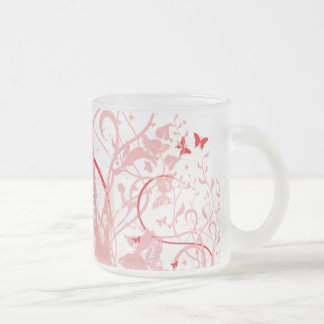 Red Pink Butterfly Mug