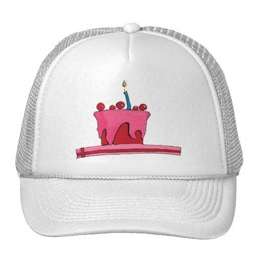 Red & Pink Cake Hat