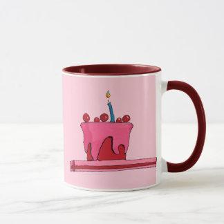 Red & Pink Cake Mug
