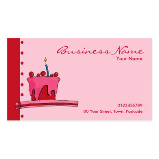 Red & Pink Cake pink Business Card