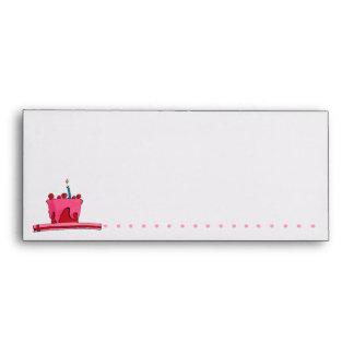 Red & Pink Cake pink Letterhead Envelope