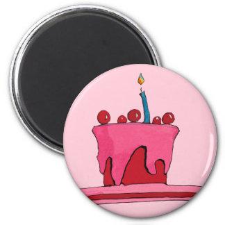 Red & Pink Cake pink Magnet