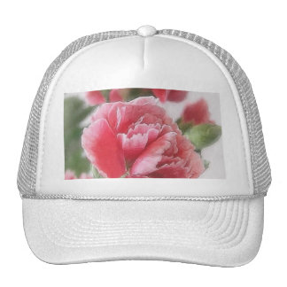 Red-Pink Carnations 1 Painterly Trucker Hat