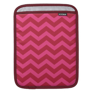 Red & Pink Chevron Stripe iPad Sleeves