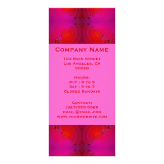 red pink circles rack card template