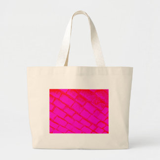 Red Pink Cobbles Canvas Bags