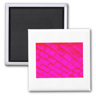 Red Pink Cobbles Magnet
