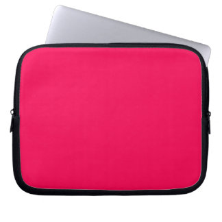 Red Pink Color Only Design Products Laptop Computer Sleeves