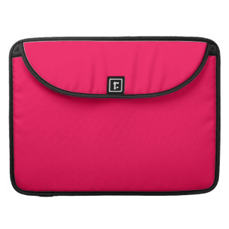 Red Pink Color Only Design Products Sleeve For MacBook Pro