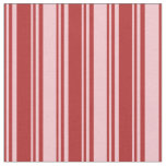 [ Thumbnail: Red & Pink Colored Striped Pattern Fabric ]
