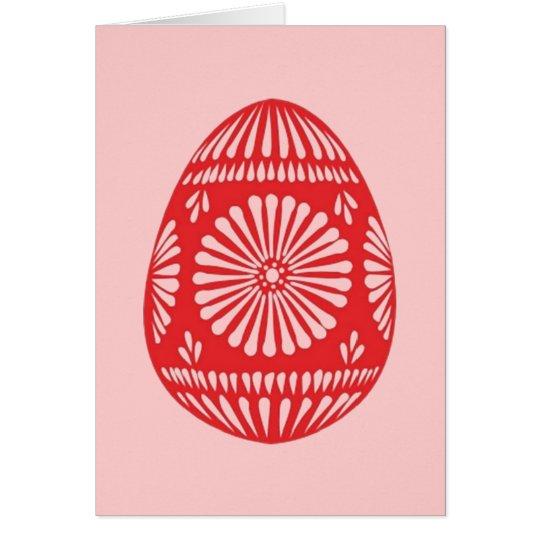 Red & Pink Easter Egg Card