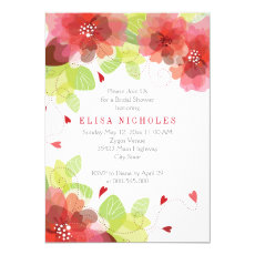 Red, pink flowers floral wedding bridal shower 5