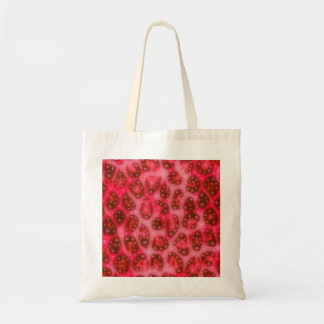 Red Pink Glowing Cheetah Tote Bag