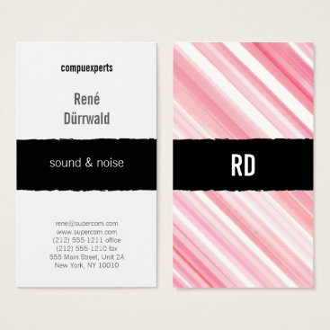 Lawyer Themed red pink graphical professional business card