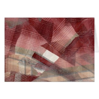 Red pink grey plaid collage stripes pattern design card