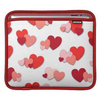 Red & Pink Heart Pattern iPad Sleeve