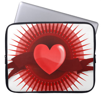 Red Pink Heart Valentine's Day Love Gifts Computer Sleeve