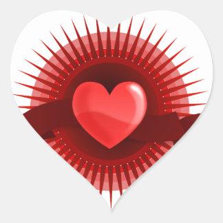 Red Pink Heart Valentine's Day Love Gifts Heart Sticker