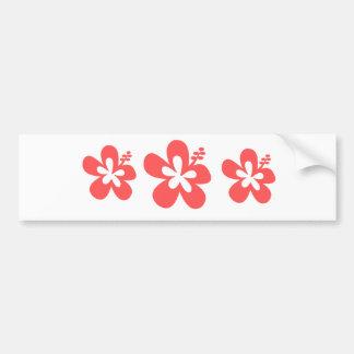 red pink hibiscus aloha flower bumper sticker