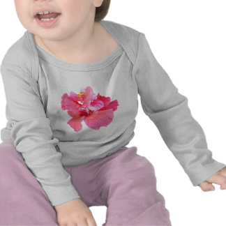 red pink hibiscus aloha flower tees