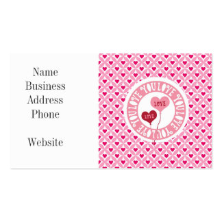 Red Pink I Love You Valentine's Day Hearts Gifts Business Card Templates